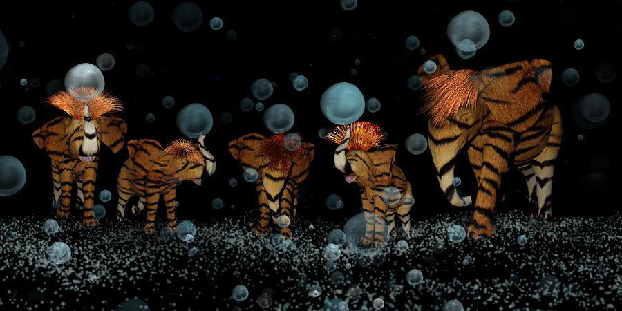 Tigerephant Partay by Carmen Hathaway