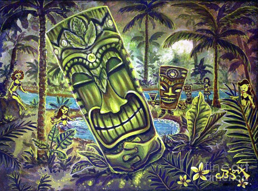 Tiki Genie's Sacred Pools by CBjork Art