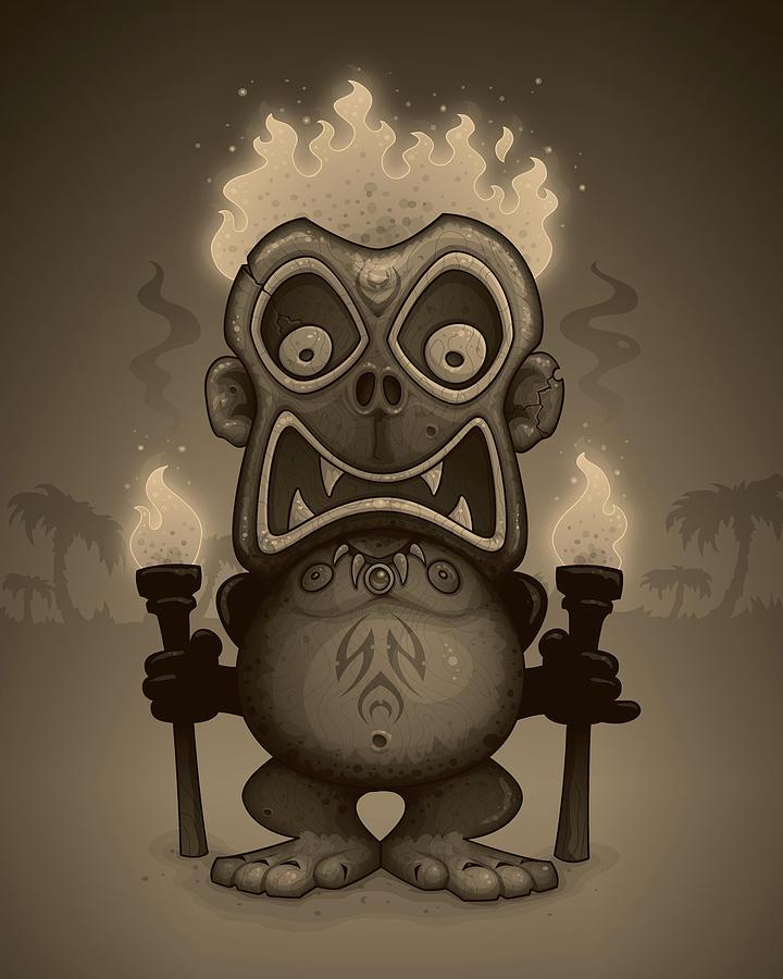 Tiki Munkee Digital Art