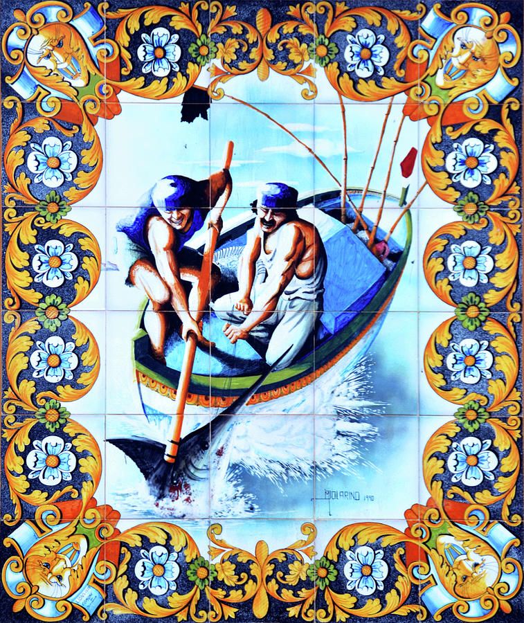 Tile mural in Sciacca by RicardMN Photography