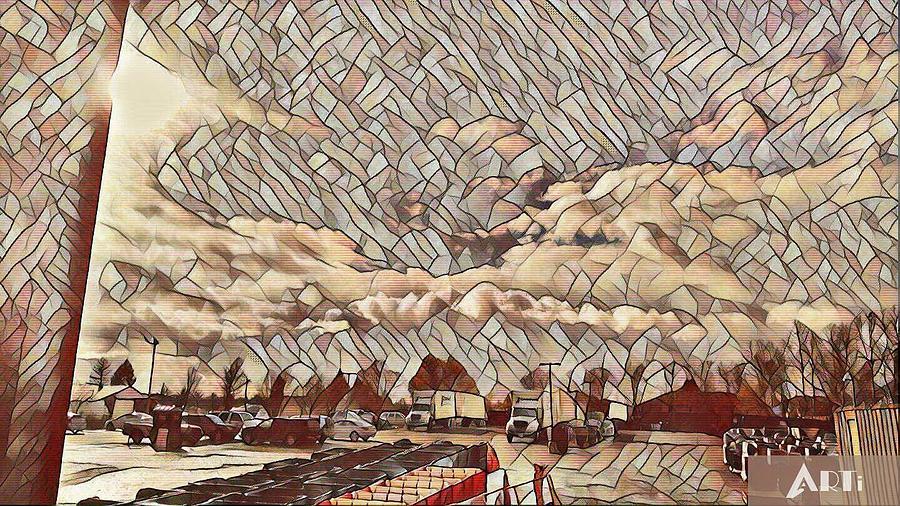 Tiled sky by Steven Wills