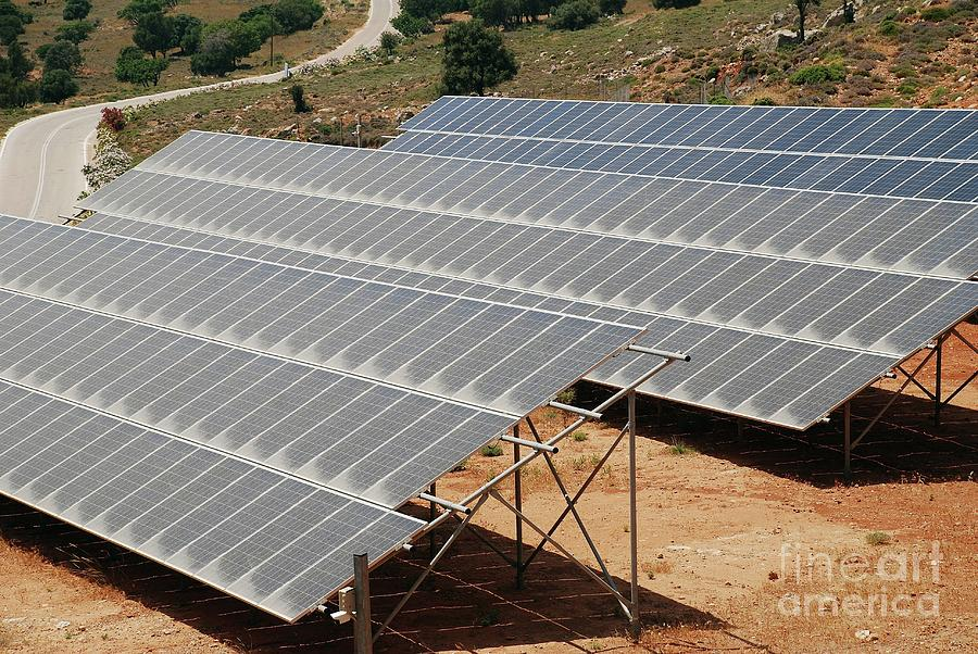 Tilos island solar panels by David Fowler