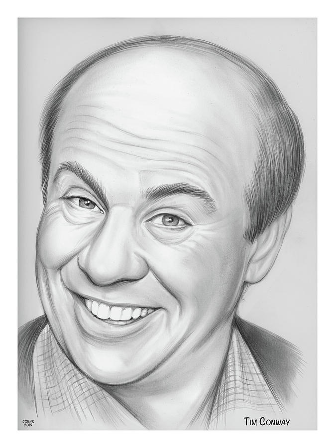 Tim Conway Drawing - Tim Conway by Greg Joens