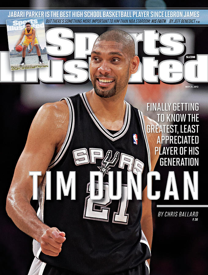 Tim Duncan Finally Getting To Know The Greatest, Least Sports Illustrated Cover Photograph by Sports Illustrated
