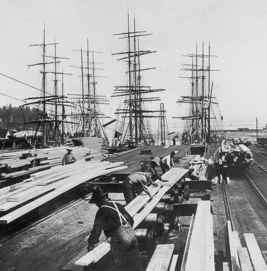 Timber In Tacoma, Washington Photograph by Archive Photos