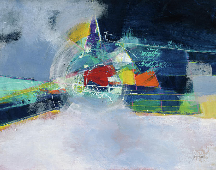 Abstract Painting - Time And Space by Jan Griggs