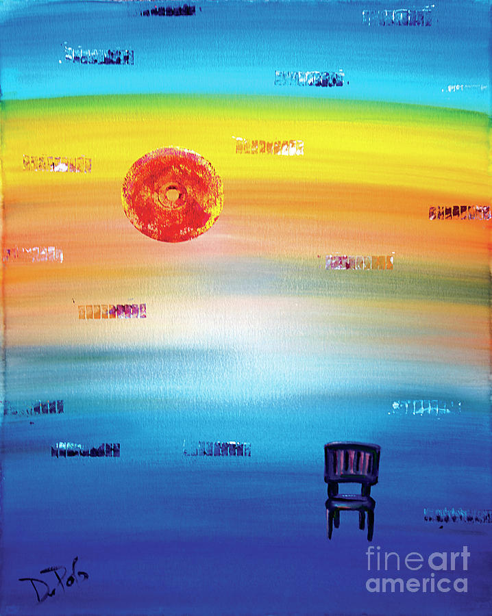 Abstract Painting - Time by JoAnn DePolo
