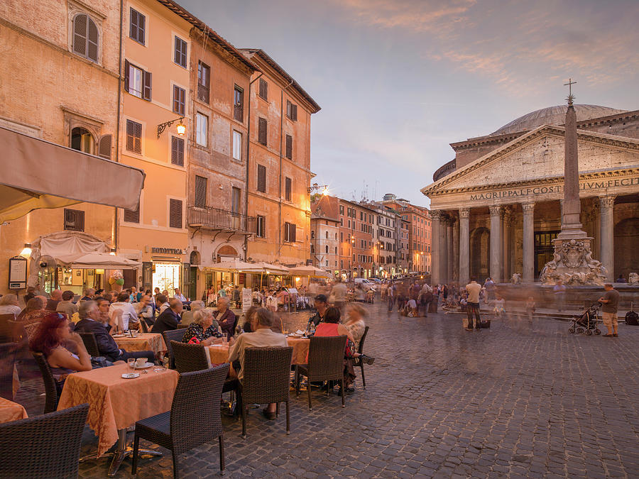 Time Lapse View Of People In Town Square Photograph by Cultura Rm Exclusive/lost Horizon Images