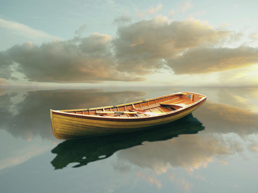 Canoe Painting - Time Out 13 by Carlos Casamayor