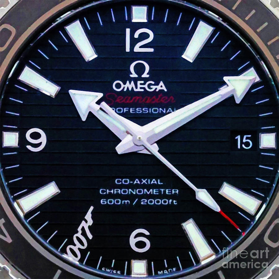 Wingsdomain Photograph - Time Piece Omega Seamaster Professional James Bond 007 20191012a  by Wingsdomain Art and Photography