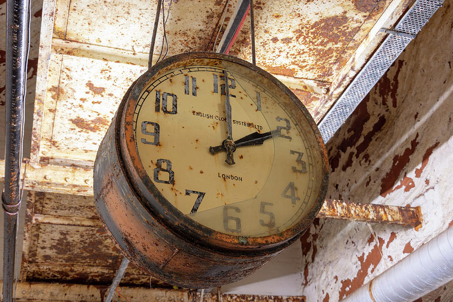 Clock Photograph - Time Stood Still 1 by Steev Stamford