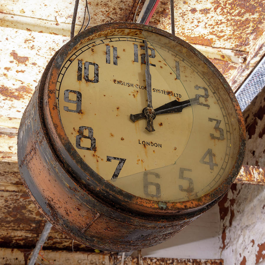 Clock Photograph - Time Stood Still 2 by Steev Stamford