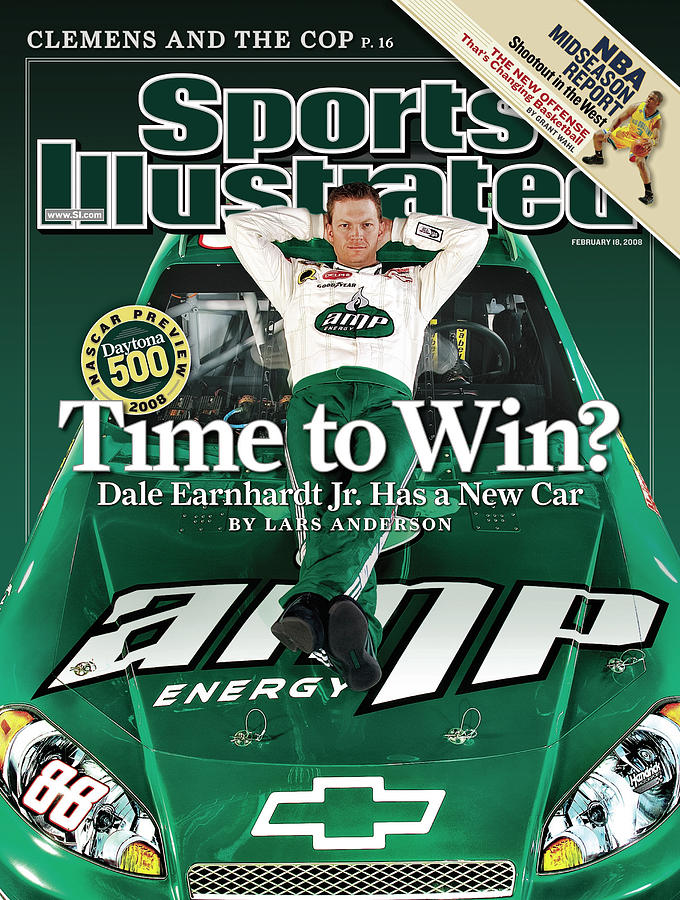 Time To Win Dale Earnhardt Jr. Has A New Car, 2008 Nascar Sports Illustrated Cover Photograph by Sports Illustrated