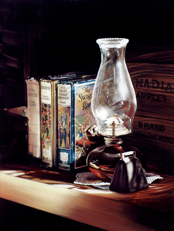 Coal Oil Lamp Pastel - Time Travel by Dianna Ponting