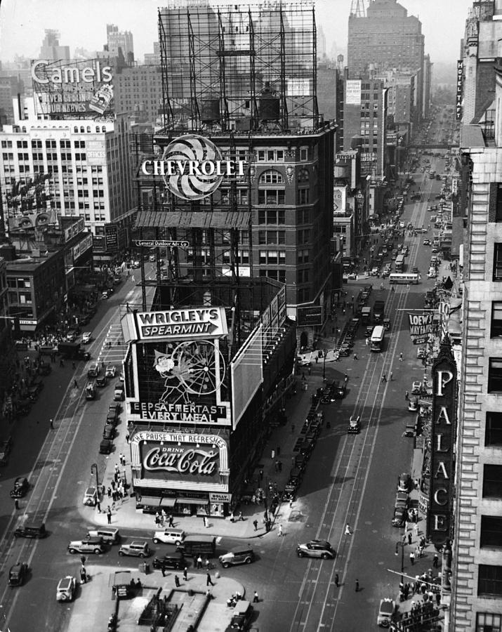 Times Square, Early 1930s Photograph by Frederic Lewis