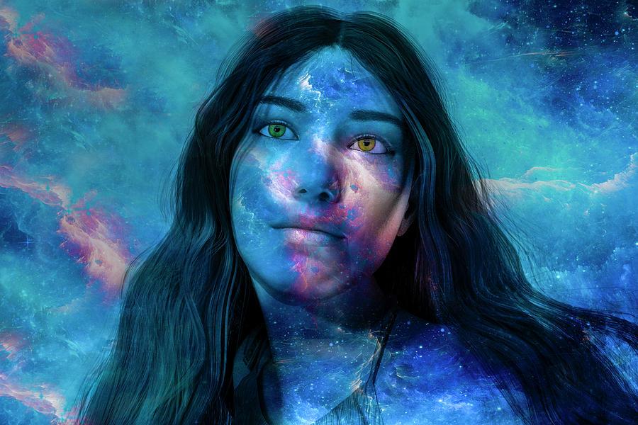 Galaxy Digital Art - Timing Of Space by Betsy Knapp