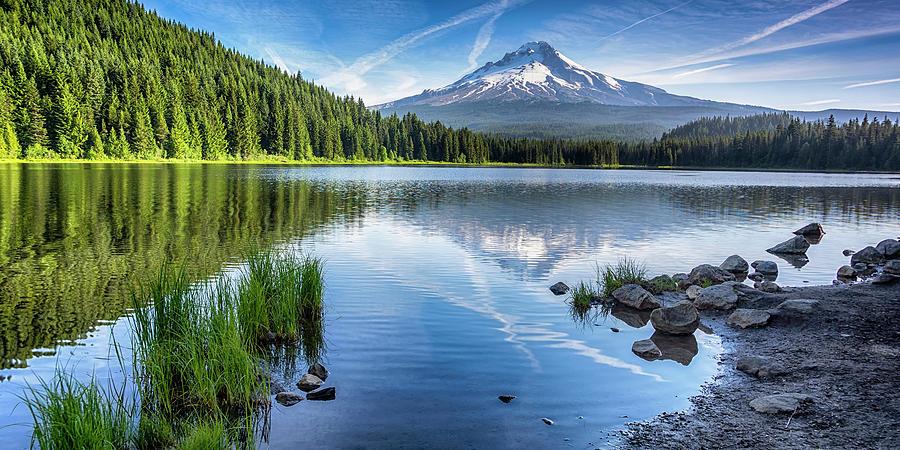 Timothy Lake - Mt Hood Oregon 1x2 DSC054414267 by Greg Kluempers
