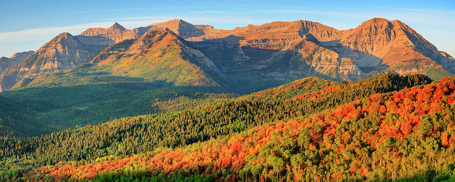 Panorama Photograph - Timp Fall Color Panorama by Johnny Adolphson