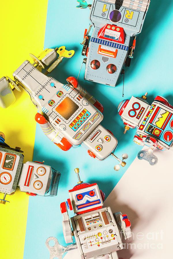 Robot Photograph - Tin Circuits by Jorgo Photography - Wall Art Gallery