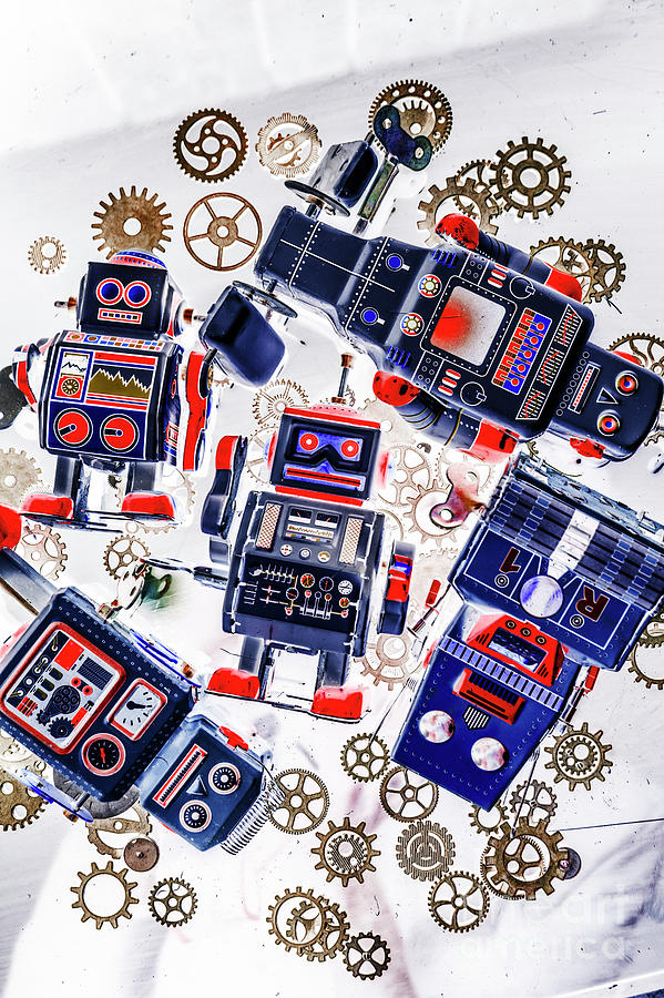 Robots Photograph - Tin Toy Factory by Jorgo Photography - Wall Art Gallery