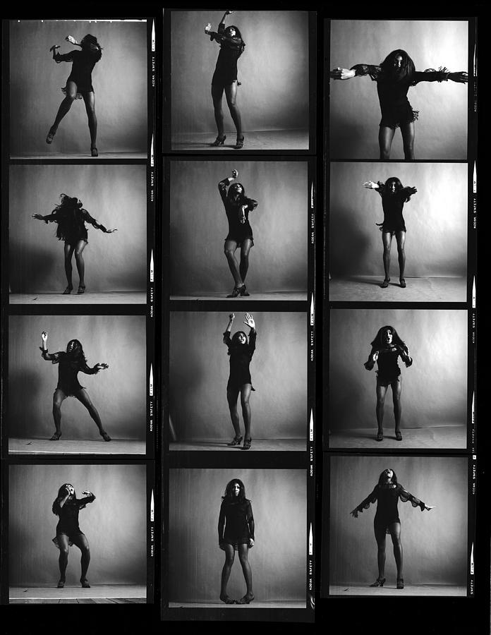 Tina Turner Contact Sheet Photograph by Jack Robinson