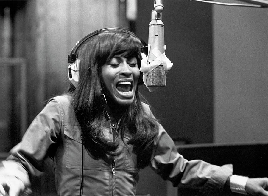 Tina Turner Recording Session Photograph by Michael Ochs Archives