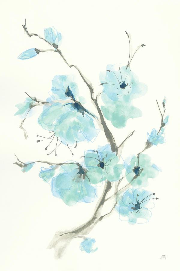Aqua Painting - Tinted Branch Iv by Chris Paschke