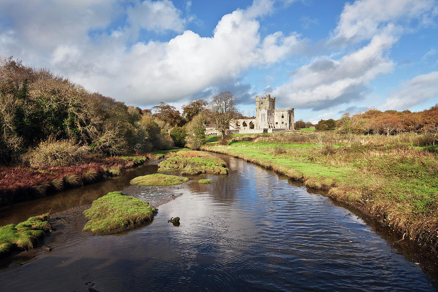 Tintern Abbey And River, County Photograph by Stevegeer