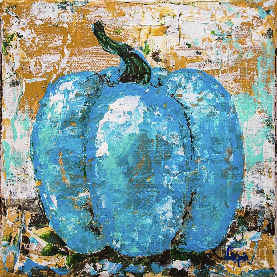 Tiny Blue Pumpkin by Cheryl McClure