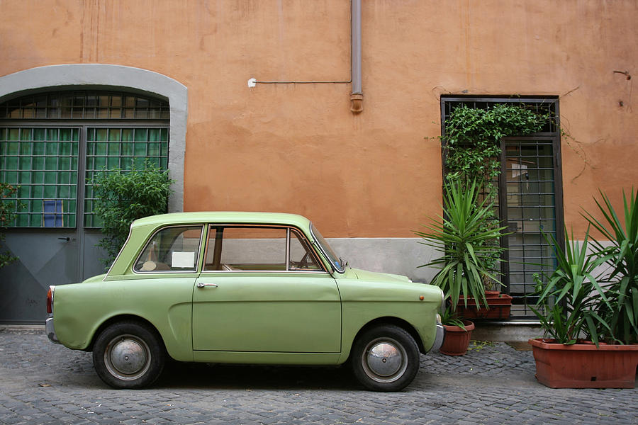 Tiny Green Italian Vintage Car Photograph by Romaoslo