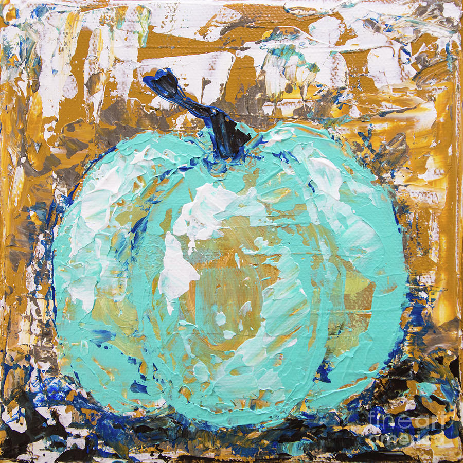 Tiny Turquoise Pumpkin by Cheryl McClure