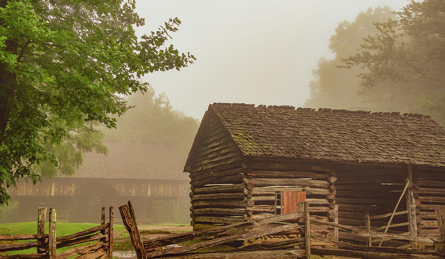 Tipton Barns, Cades Cove by Marcy Wielfaert