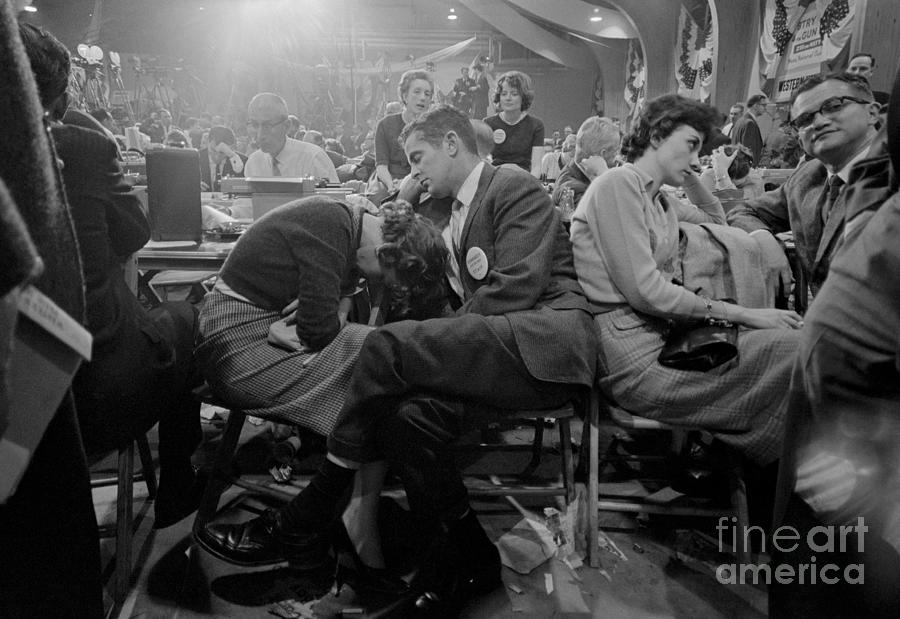 Tired Members Of The Press Waiting Photograph by Bettmann