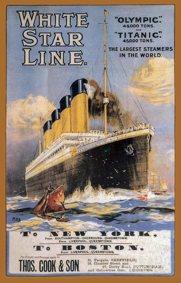 Knickerbocker Photograph - Titanic Advertising Poster by Jon Neidert