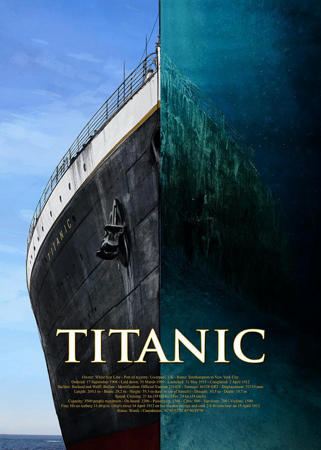 Titanic Double Poster by Andrea Gatti