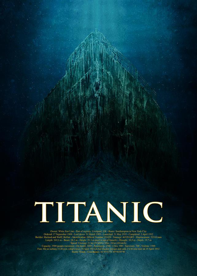 Titanic Wreck Poster Digital Art