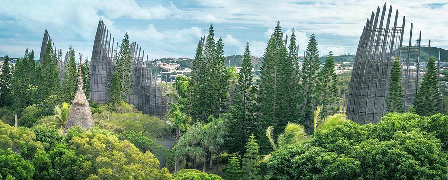 Tjibaou Cultural Centre Panorama by Daniela Constantinescu