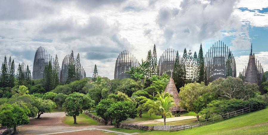 Tjibaou Cultural Centre Panorama in New Caledonia by Daniela Constantinescu