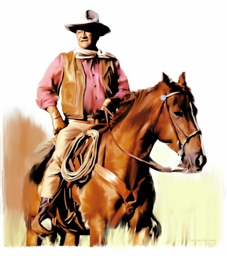 TJohn Wayne The Duke  by Iconic Images Art Gallery David Pucciarelli