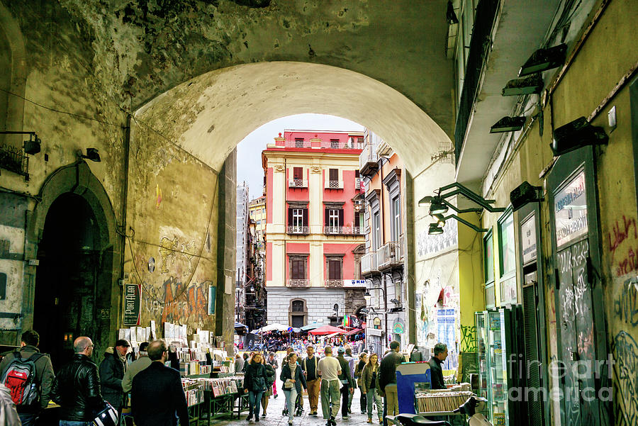 To Piazza Dante in Naples by John Rizzuto