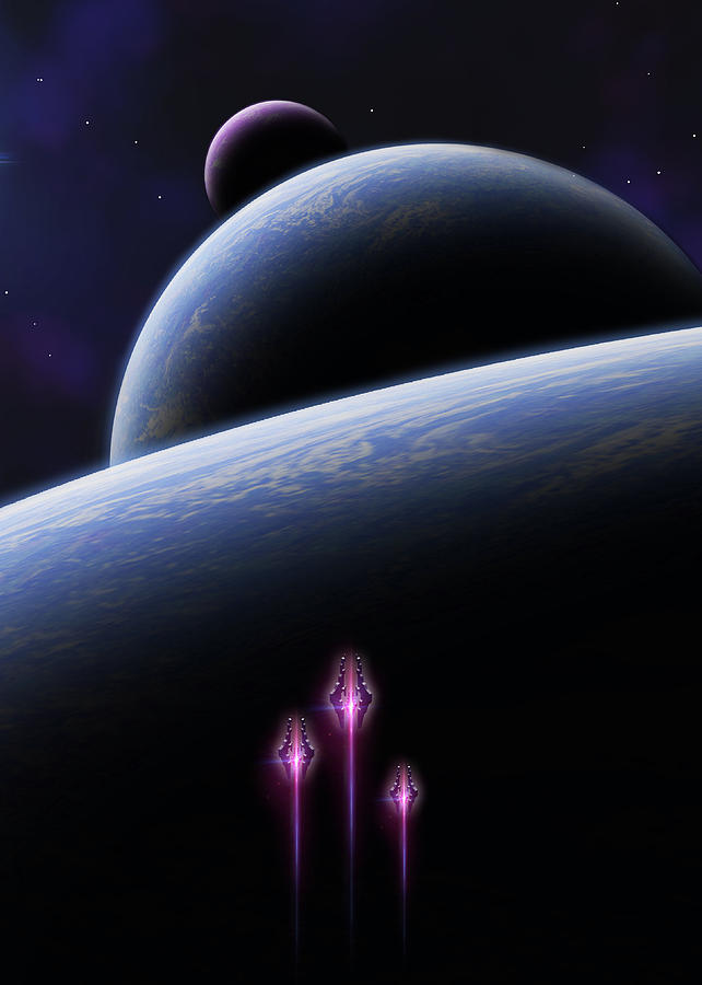 Space Digital Art - To The Stars by Visions Beyond