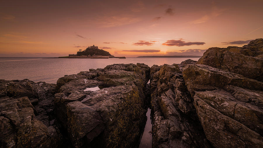 To the Sunset - Marazion Cornwall by Eddy Kinol