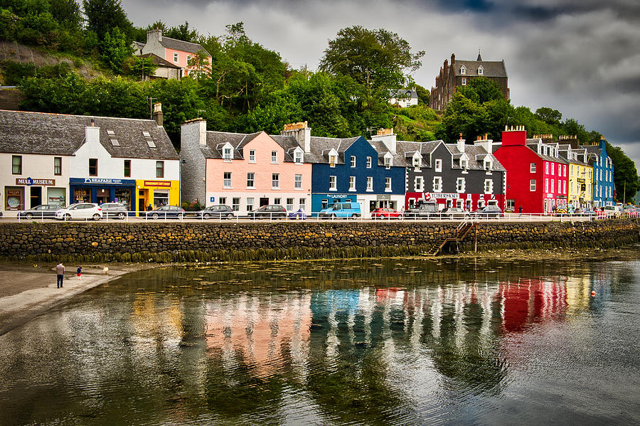 Tobermory Main Street and Reflections - Scotland by Stuart Litoff