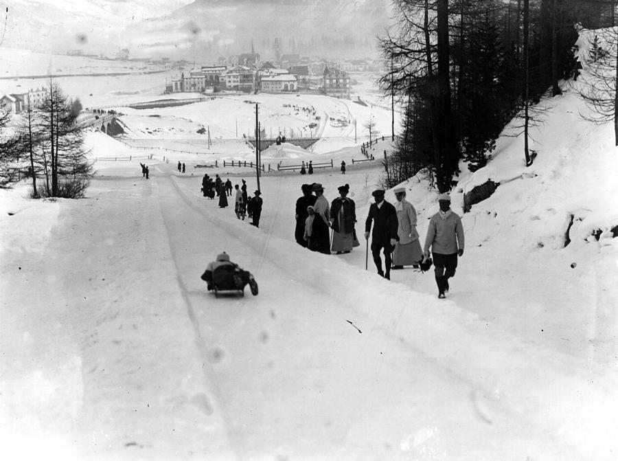 Tobogganing Slope Photograph by Topical Press Agency