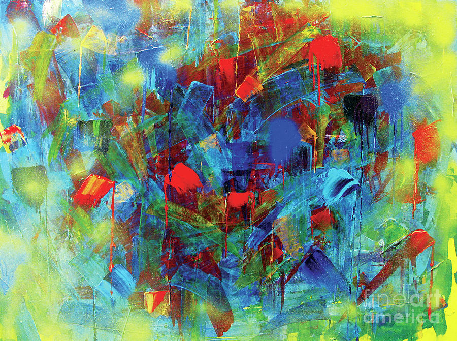 Abstract Painting - Today by JoAnn DePolo