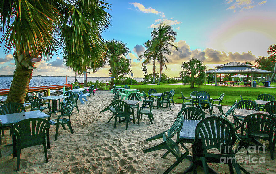 Toes in the Sand Dining by Tom Claud
