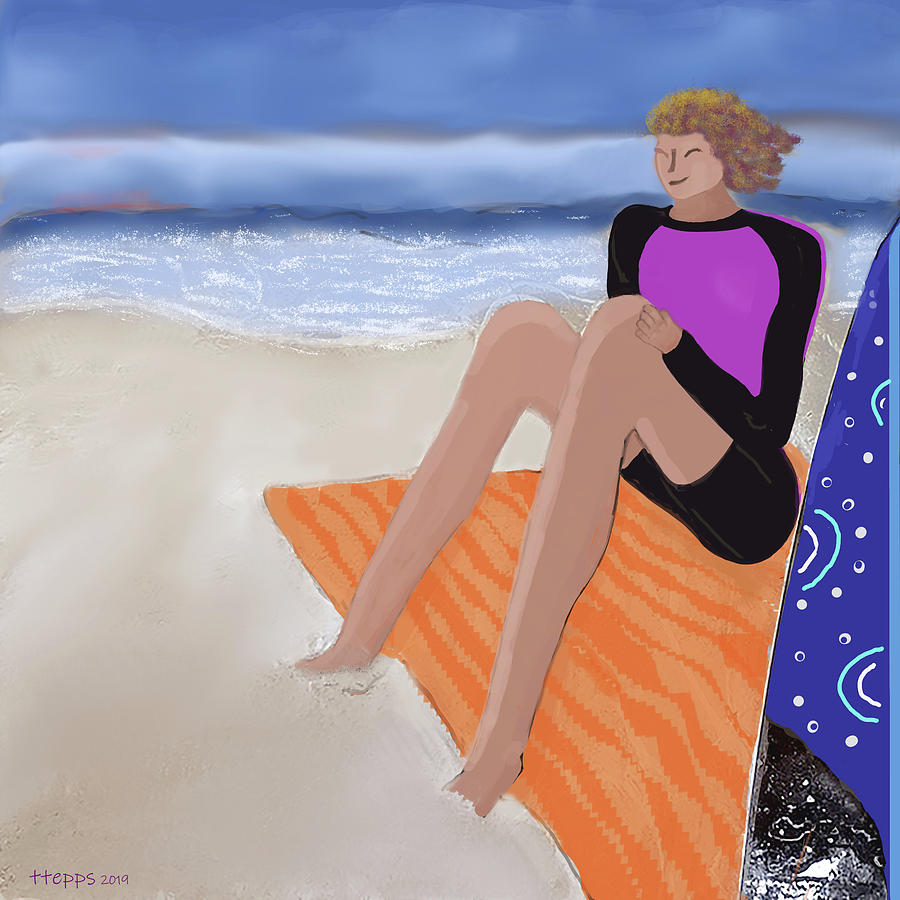 Toes In The Sand by Teresa Epps