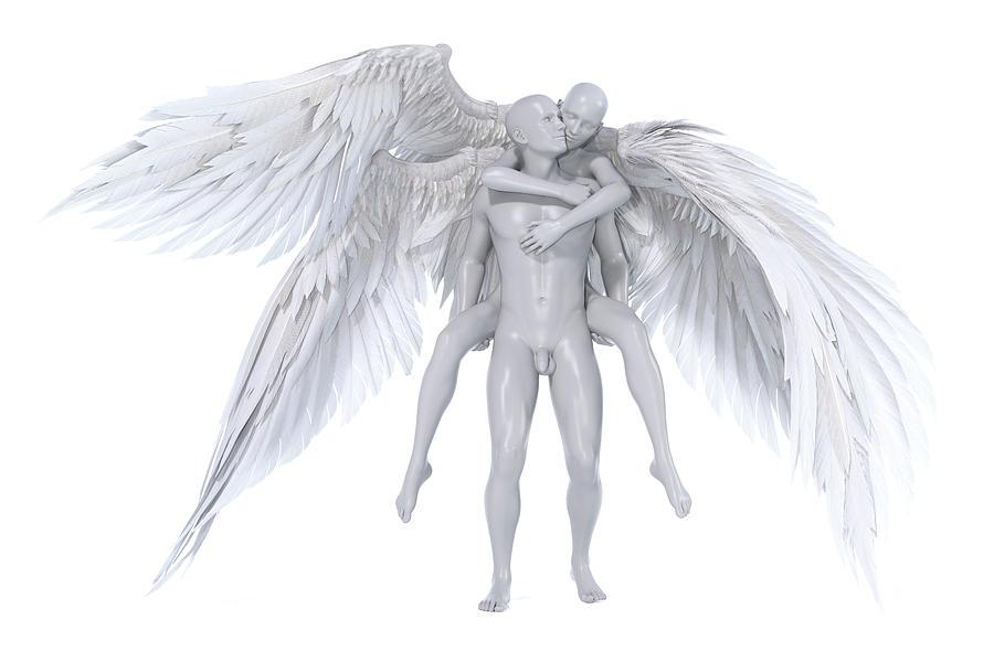 Angel Digital Art - Lift by Betsy Knapp