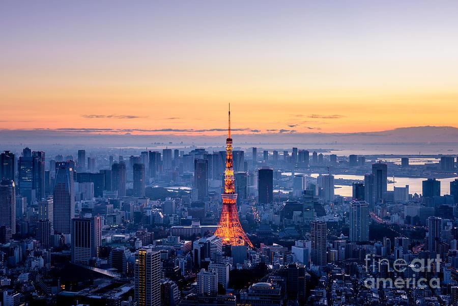 Tokyo At Dawn Photograph by Yukinori Hasumi