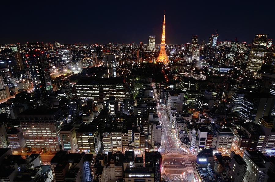Tokyo At Night Photograph by Sugimoto Yasuaki